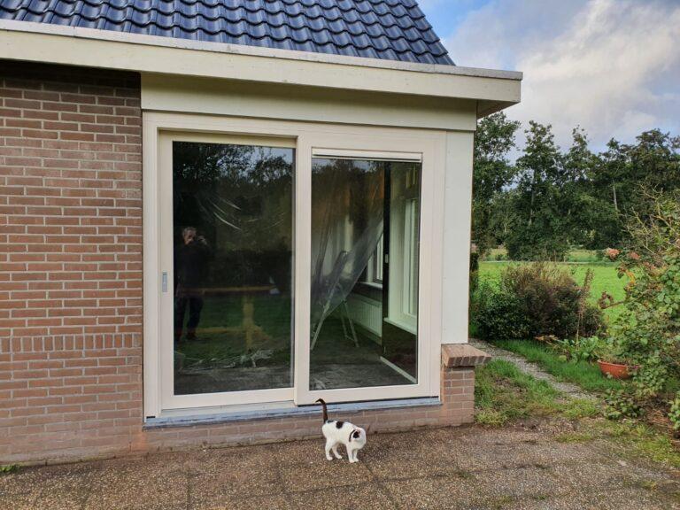 Kunststofkozijn4U Steenwijk - tweedelige kunststof schuifpui in Steenwijk