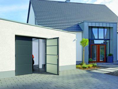 Garagedeur Steenwijk openslaande garagedeur - Kunststofkozijn4U Steenwijk