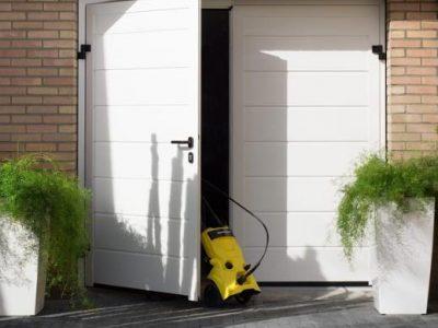 Garagedeur Steenwijk openslaande deuren wit - Kunststofkozijn4U Steenwijk